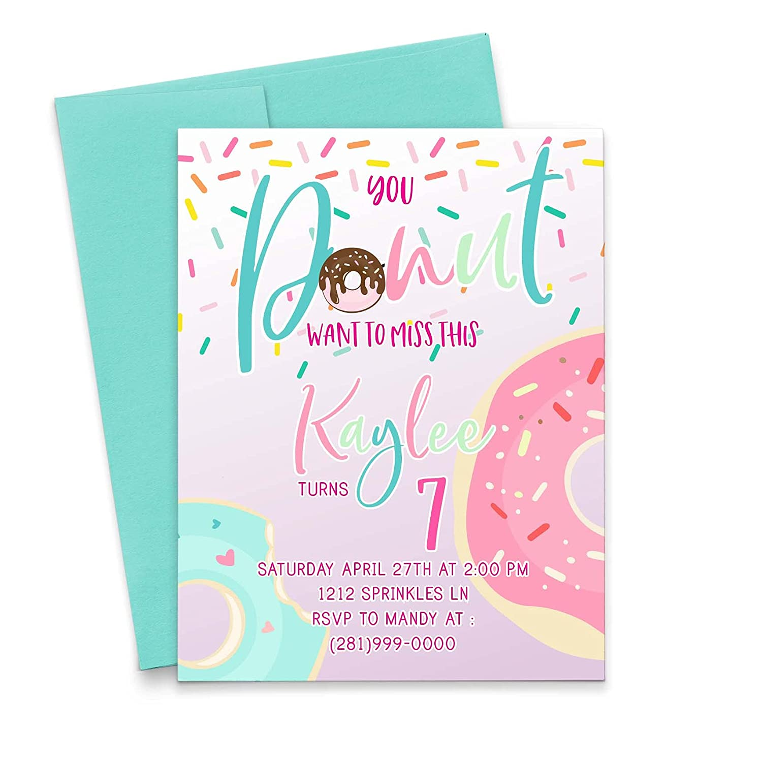Donut Portland Mall Birthday OFFicial site Invitations for Girls