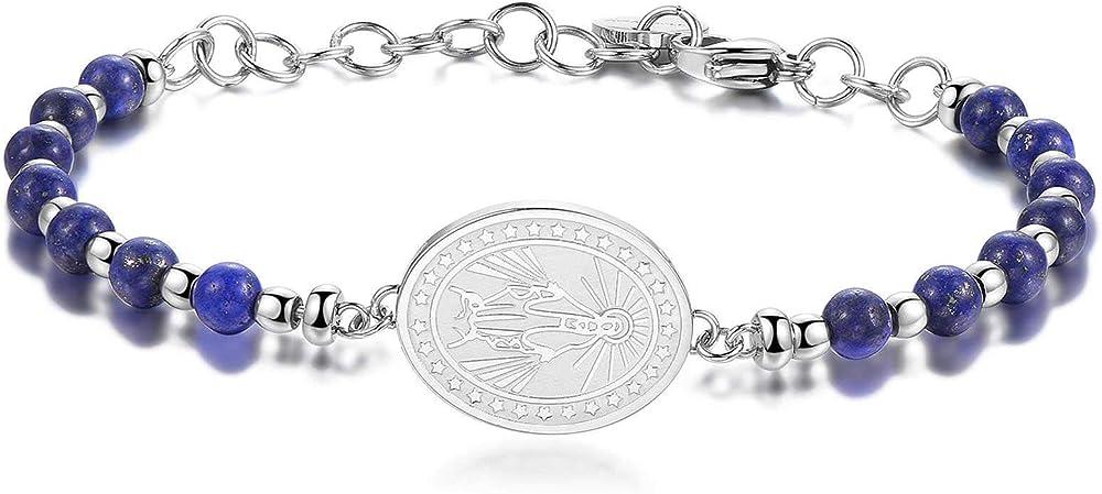 Brosway chakra trendy bracciale per donna  in acciaio e pietre naturali BHK218