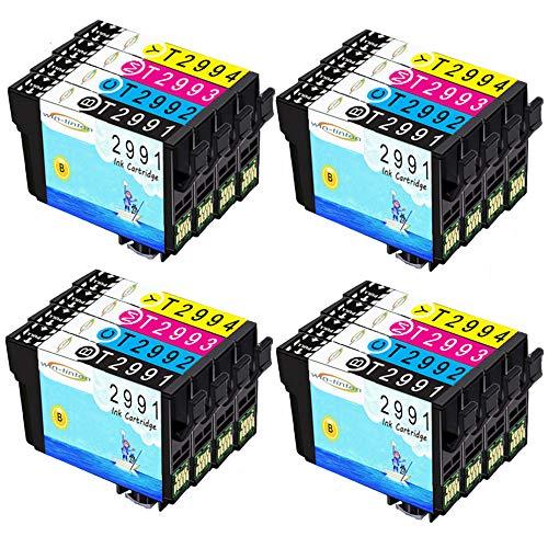 Wintinten 16 pezzi di ricambio per Epson T29 T29xl T2991 T2992 T2993 T2994 cartuccia d'inchiostro compatibile per Epson Expression Home XP-235 XP-335 XP-435 XP-245 XP-247 XP-342 XP-442 XP-445