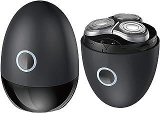 XiAnShiYu メンズ電気シェーバー ひげそり 電動かみそり 男性用 回転式 USB充電 水洗い可 コンパクト 旅行用·家庭用 ブラック