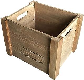 Estante de madera LP Old Record Collection, Audio Shop Bar Salón de baile Soporte de exhibición de canto de vinilo - Caja ...