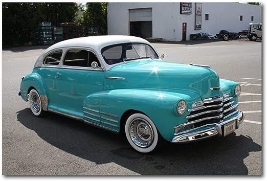 Canvas Wall Art Painting ya00513 Silver Vintage Classic Car