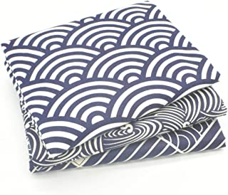 iNee Japanese Sea Wave Fat Quarters Fabric Bundles, Sewing Quilting Fabric, 18 x22 inches, (Indigo)