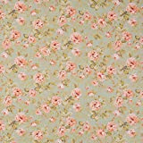 Vinylla - Mantel de algodón con revestimiento de vinilo, fácil de limpiar, rosa, 140 x 140 cm