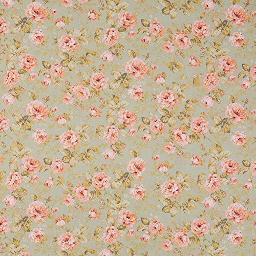 Vinylla Baumwoll-Tischdecke mit Vinylbeschichtung, Motiv: Rosen, einfach zu reinigen, 140 x 240 cm