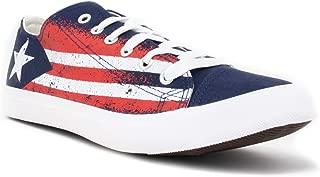 Puerto Rico Flag Sneakers | Cute Fun Rican Nuyorican Gym Tennis Shoe - Women Men