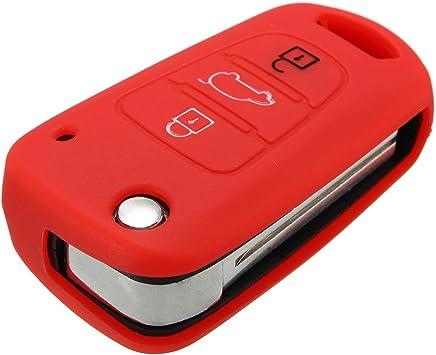 Viviance Silicona 3 Botón Remoto Cubierta De Caso Clave para Hyundai Elantra Accent I20 I30 Ix35