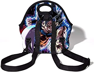 Anime Dragon Ball Z Lunch Bag for Kids, Waterproof Insulated Lunch Tote with Zipper & Strap for School Work Outdoor