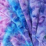 Yalulu 100 x 160 cm Plüsch Regenbogen Farbe Warme Stoff