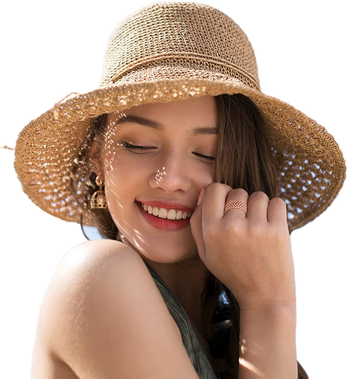 Kekolin Womens Packable Summer Sun Hat Wide Brim Flipped Up Down 5659CM Beach