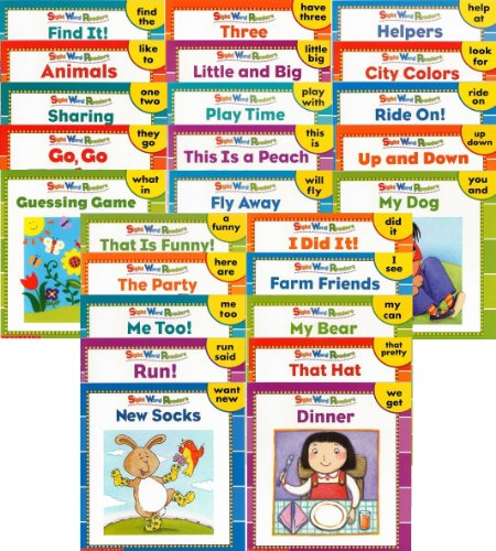 25 NEW Illustrated Sight Word Readers Phonics Teaching Supples Prek Scholastic 25 Books That Teach 50 Must-know Sight Words!! (Sight Word Readers)