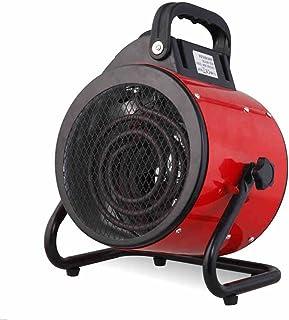 FEI Calefactor 3Kw Termostato de Calentador Industrial Controlado Ventilador de Cilindro de Taller para la plantación de Flores de Granjas, Interior al Aire Libre Corte de Seguridad de inclinación