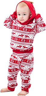 Infant Baby Boys Girls 3-24 Months Deer Print Hoodie Tops+Pants Christmas Outfits Clothes
