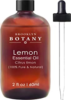 Brooklyn Botany Lemon Essential Oil - 100% Pure & Natural - 2 oz With Dropper