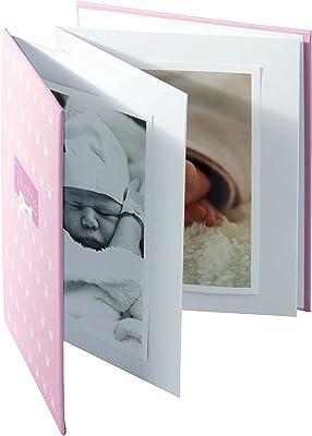 Goldbuch Leporello-Álbum Infantil para 10 Fotos en Formato de 13 x 18 cm, con impresión artística y Banda elástica, acordeón, Papel, Rosa, ca. 15,5 x 19 x 0,8 cm