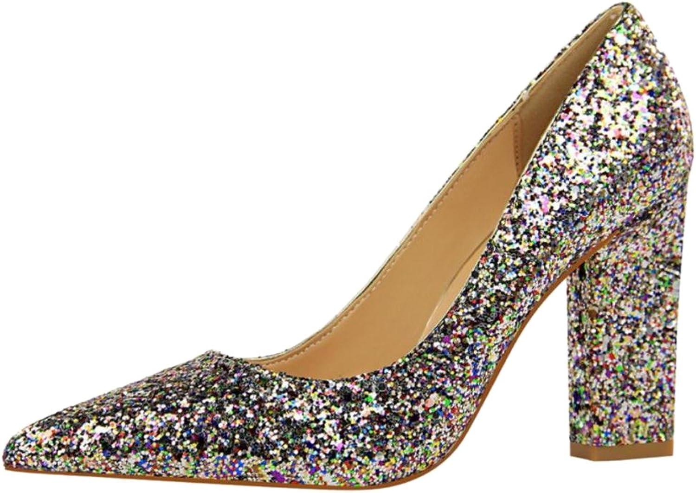 FANIMILA Women Shiny Wedding shoes Heels
