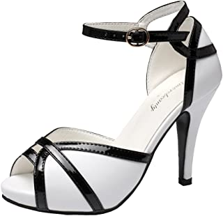 Best black and white open toe pumps Reviews