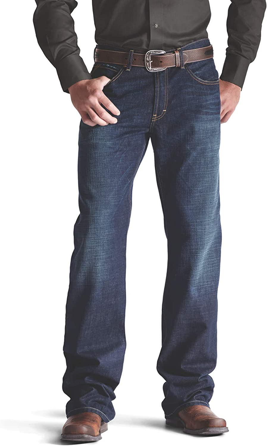 ARIAT Men's Time sale M4 Low Rise Legacy Cut Jean Roadhouse gift Boot Size 44W