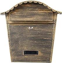 Brievenbus Villa Mail Box Outdoor Brievenbus Postvak Muur Smeedijzer Creatieve Waterdichte Lock Krant Doos Eenvoudige Wand...