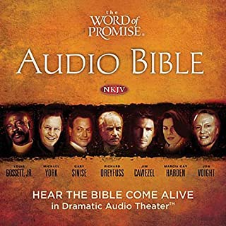 The Word of Promise Audio Bible - New King James Version, NKJV: Complete Bible                   Written by:                                                                                                                                 Thomas Nelson Inc.                               Narrated by:                                                                                                                                 Jason Alexander,                                                                                        Joan Allen,                                                                                        Richard Dreyfuss,                   and others                 Length: 98 hrs     34 ratings     Overall 4.7