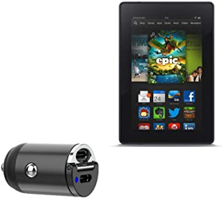 Carregador de carro Kindle Fire (1ª geração 2011), BoxWave [Mini carregador de carro PD duplo] Rápido, 2 carregadores USB ...