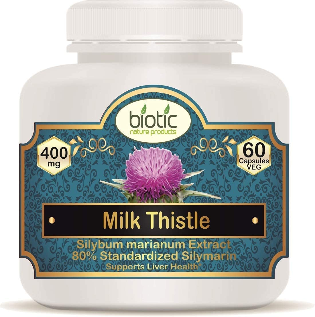 Trisha Biotic Milk Thistle Capsules 400mg Very popular - Max 76% OFF Veg Capsu Extract 60