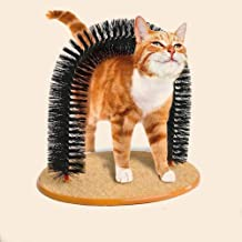 Cat Groom Self Grooming Cat Toy-Pet Cat Arch Self-Groomer and Massager - Groom Toy Pet Cat Scratcher Toys Fur Grooming Brush - Helps Prevent Hairballs and Controls Shedding