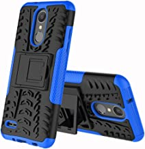 Yiakeng LG Zone 4 Case,LG Aristo 2/3, LG Phoenix 4, LG Tribute Empire/Dynasty SP200,LG Fortune 2,LG Risio 3,LG K8 (2018) Case, Wallet Hard Protective Flip Phone Cases with A Kickstand (Blue)