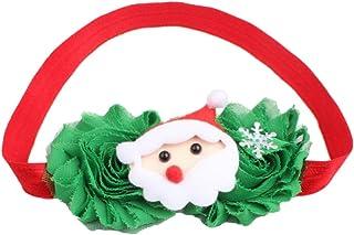Bullidea Christmas Elastic Headbands Headwraps Hair Band Hair Hoop with Fake Flower for Women Toddler Baby Girls Kids