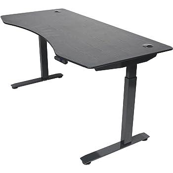 "ApexDesk Elite Series 60"" W Electric Height Adjustable Standing Desk (Memory Controller, 60"" Black Top, Black Frame)"