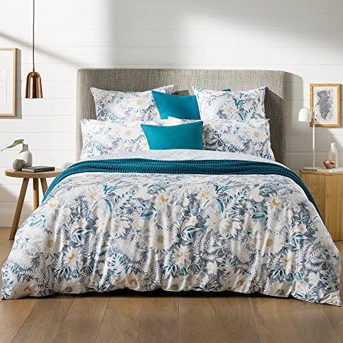 Sheridan satén de algodón Paloma Funda Nórdica y Funda de Almohada, Color Azul