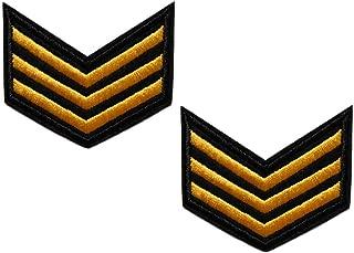 topt mili lot 2 ecusson Militaire USA Sergent aviateur thermocollant 6x5,5cm patche Badge