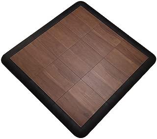 SnapFloors 3X3DKMAPLEFLOOR Modular Dance Floor Kit (3' x 3'), DARK MAPLE, 21 Piece