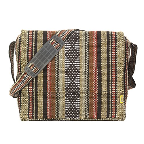 "Messenger Bag Hippie Gifts for Women Boys Schoolbag for Girls School Bag Satchel Fair Trade for Men Women Accessories Cross Body Shoulder Bag Denim 13"" 14"" Canvas Laptop Case Tote Retro (Light Brown)"