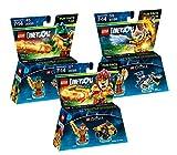 Lego Dimensions Chima Fun Pack Bundle of 3 - Eris Fun Pack (71232) Cragger Fun Pack (71223) Laval Fun Pack (71222)
