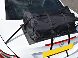 Mercedes SLK Trunk Luggage Set : 40% More Space with a Trunk Bag. Waterproof Luggage Bag Straps to Trunk Lid. Sits on Soft Mat to Protect Paint. Hand Made in England Sine 2008