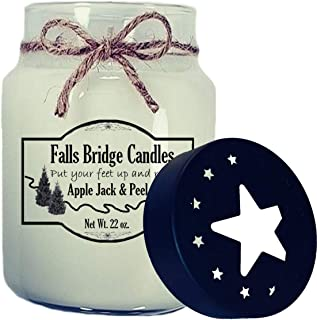 Falls Bridge Candles Apple Jack & Peel Scented Jar Candle, 22-Ounce, w/Star Lid