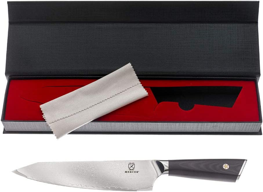 Mercer Culinary M13785 Damascus Blade 8-Inch Chefs Knife G10 Handle