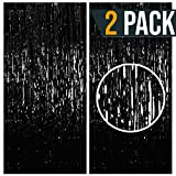 Black Metallic Tinsel Foil Fringe Curtains Party Photo Booth Props| Backdrop| Wedding Décor|