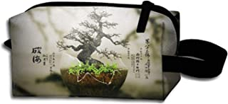 scakoko Dressing Case Travel Bonsai Tree Cosmetic Bags with Makeup Artist Case Multi Functional Makeup Handbag for Travel & Home Gift