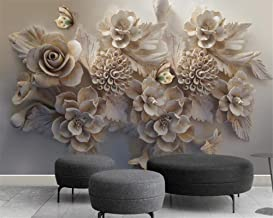 BHXIAOBAOZI muurschilderingen, aangepaste behang muurschilderingen woondecoratie reliëf bloemen vlinder muurschildering 3D...