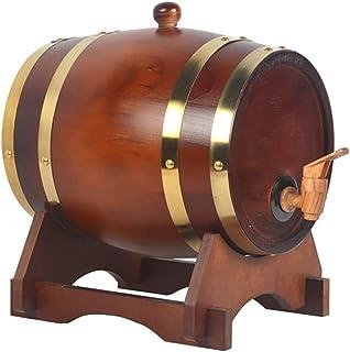 HWhome Barils De Chêne 3L Barils De Whisky Vintage Wine Barrel, Peuvent être Utilisés pour La Vinification Ou Stocker Le R...