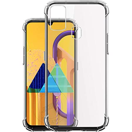 Jkobi Silicon Flexible Shockproof Corner TPU Back Case Cover for Samsung Galaxy M30s / Samsung Galaxy M21 - Transparent