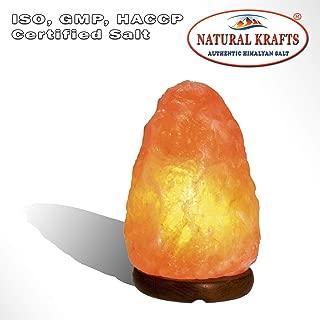 Himalayan Salt Lamp Rock Natural Shape Beautiful Decor Lamp 4-6 lbs on Wood Base