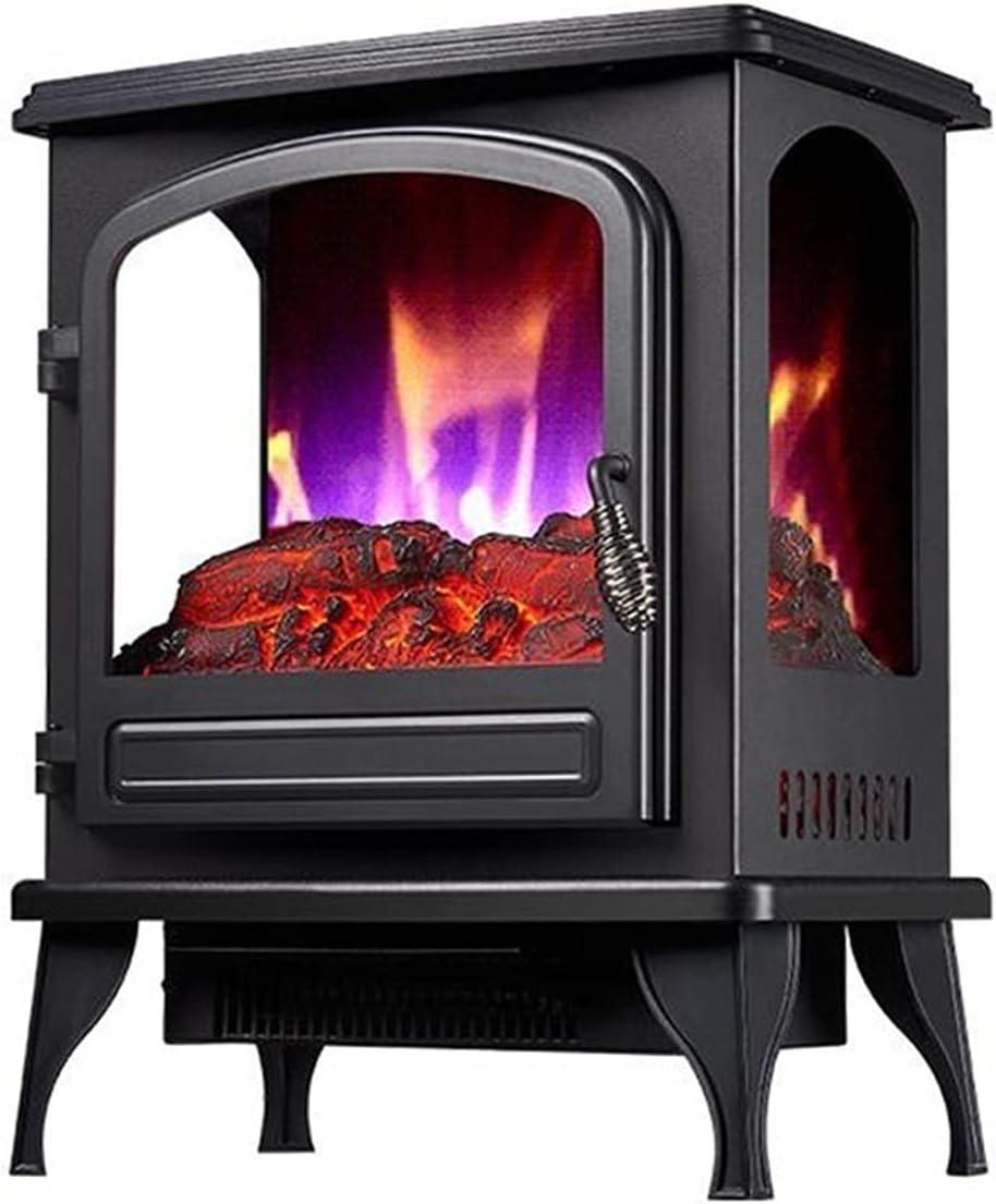 Tulsa Mall Fireplaces depot RENJUN- Freestanding with Wooden Effe Burner Flame 3D