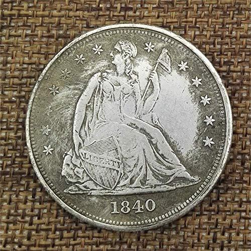 DDTing Best Morgan Silber-Dollar-Münzen zum Sammeln von Silber-Dollar, USA-altes Original Pre Morgan Dollar Münzen GoodService, 1840, Einheitsgröße