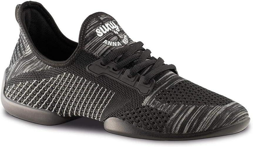 Anna Kern Hommes Dance baskets Chaussures de Danse 4010 Pureflex - Noir - Semelle de baskets