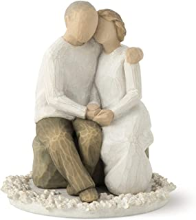 Willow Tree Anniversary, sculpted hand-painted cake topper