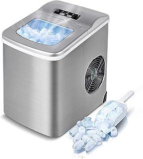 VAZILLIO Machine à Glaçons pour Maison/Office - 9 pcs en 6 Minutes - 13kg en 24 heures - 2 Tailles de Glaçons, Nouvelle Ma...