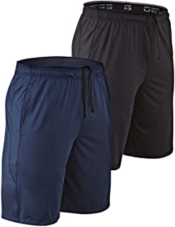 "DEVOPS Men's 2-Pack Loose-Fit 10"" Workout Gym Shorts with Pockets"